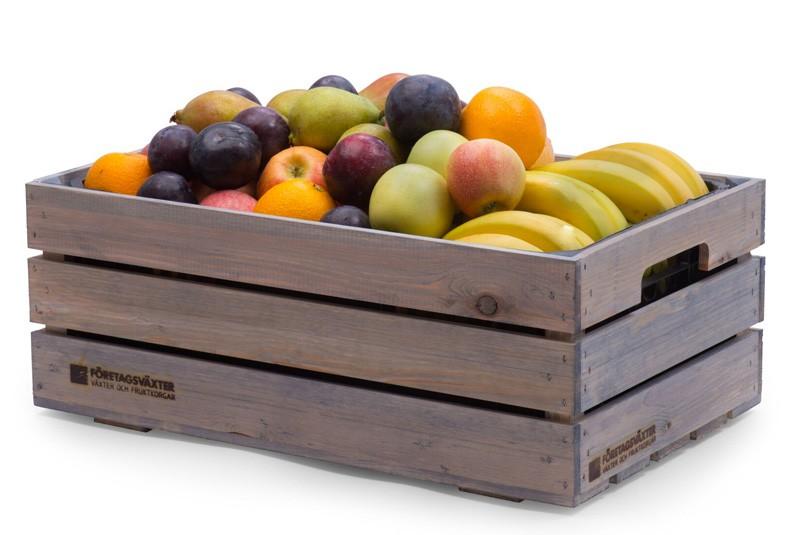 Frukt på kontoret med fruktkorg bas