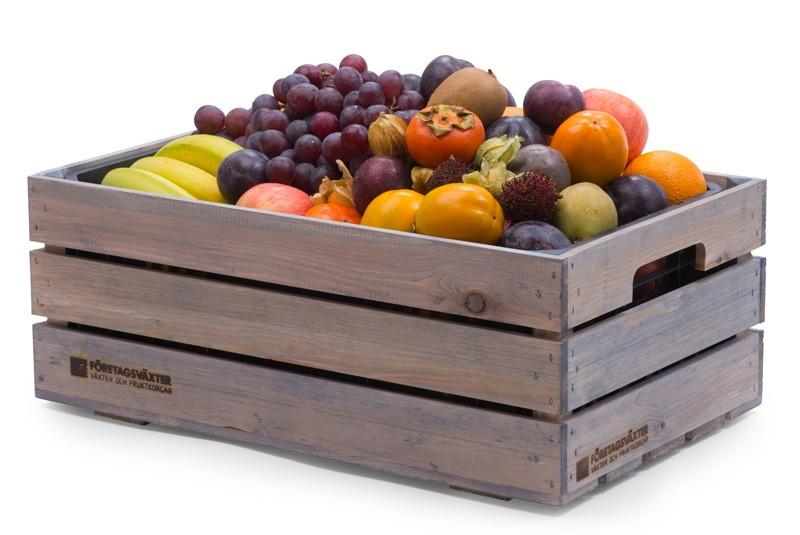 Frukt på jobbet med fruktkorg premium